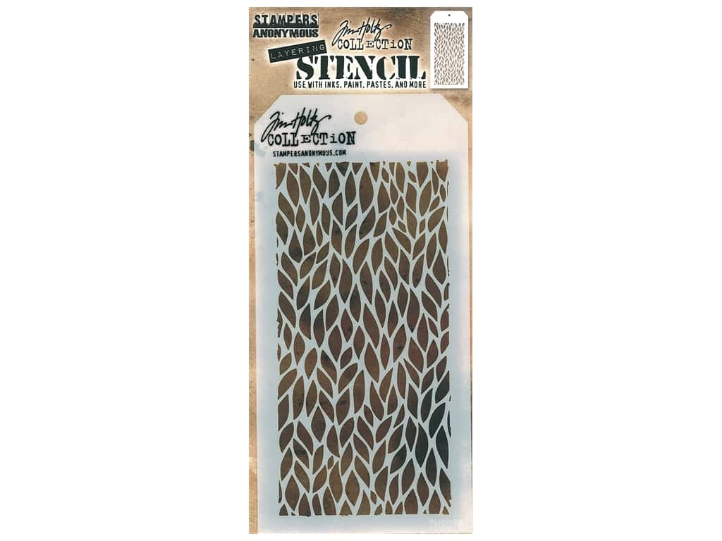 Stampers Anonymous Layering Stencil Tim Holtz Leafy