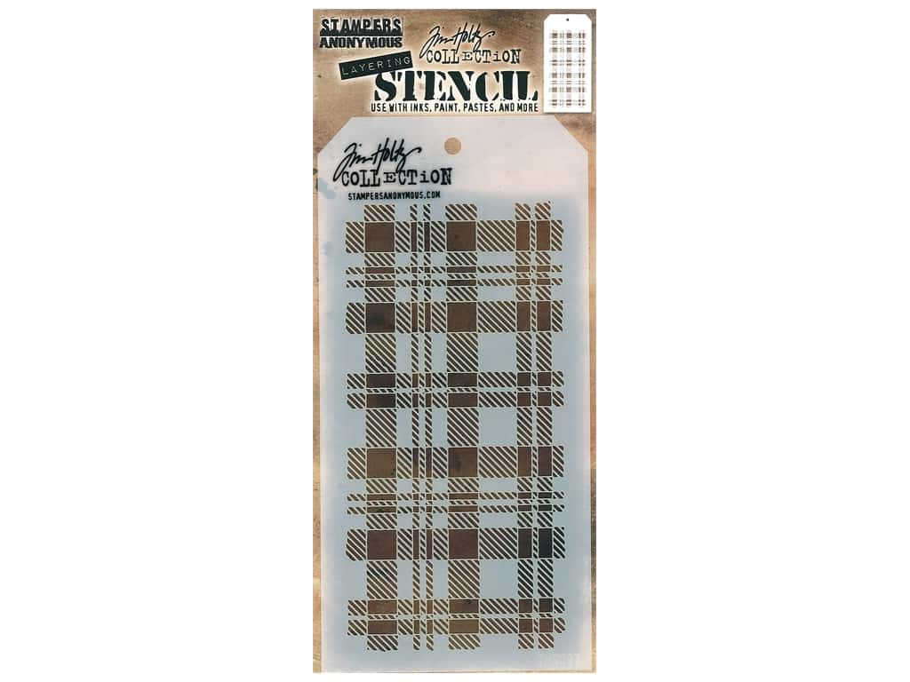 Stampers Anonymous Tim Holtz Layering Stencil - Plaid