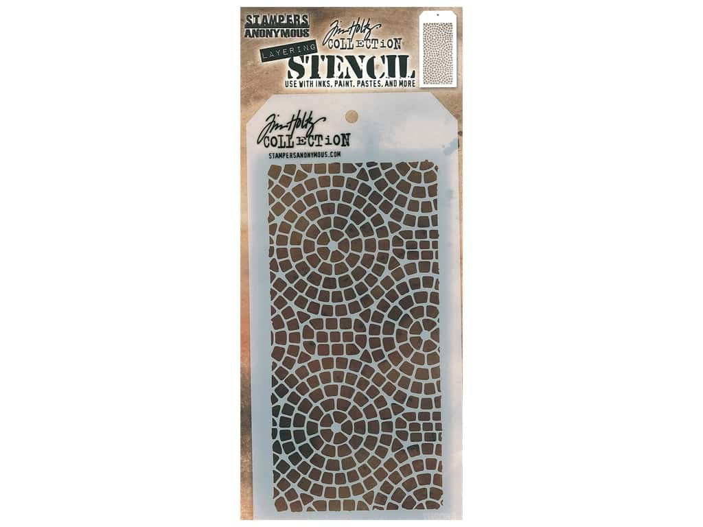 Stampers Anonymous Layering Stencil Tim Holtz Mosaic