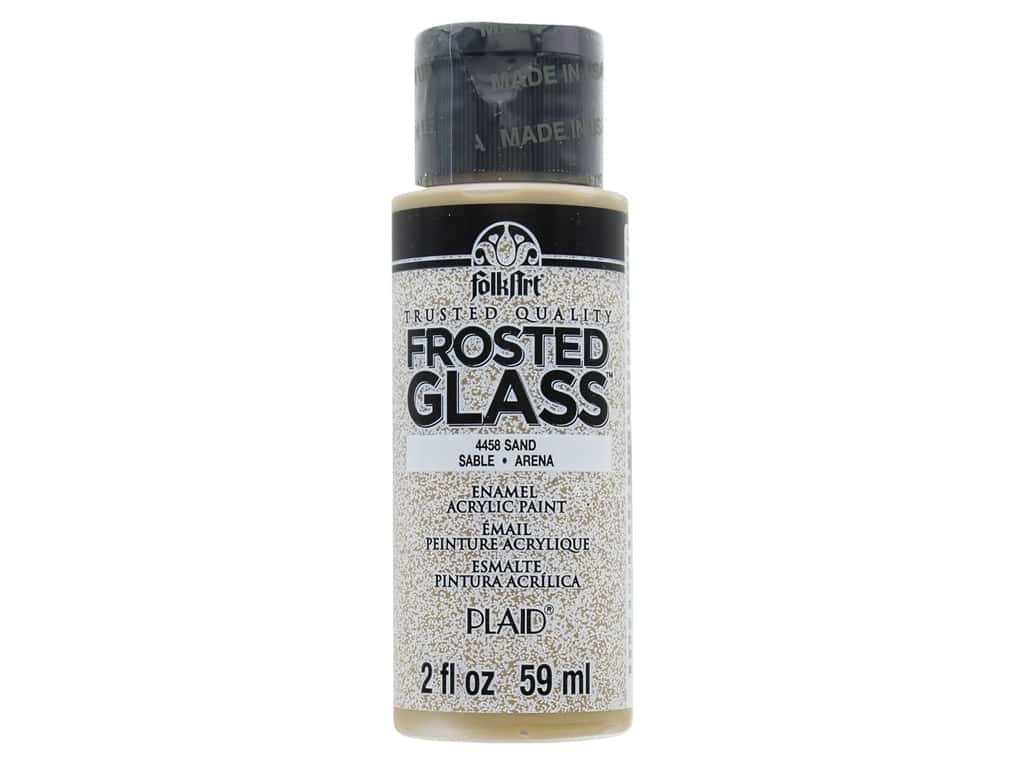 Plaid FolkArt Frosted Glass Enamel Paint 2 oz. Sand