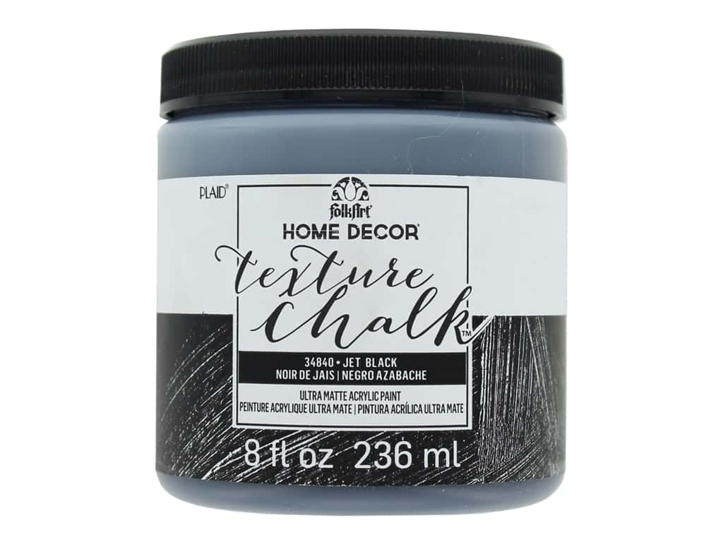 FolkArt Home Decor Texture Chalk 8 oz. Jet Black