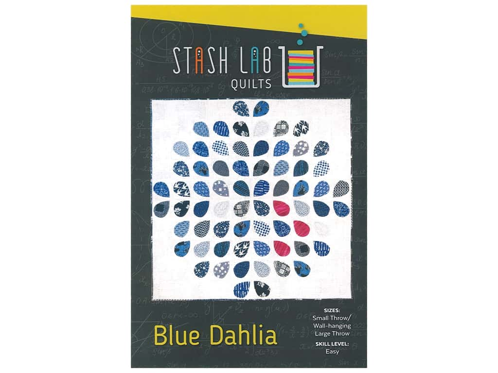 Stash Lab Quilts Blue Dahlia Pattern