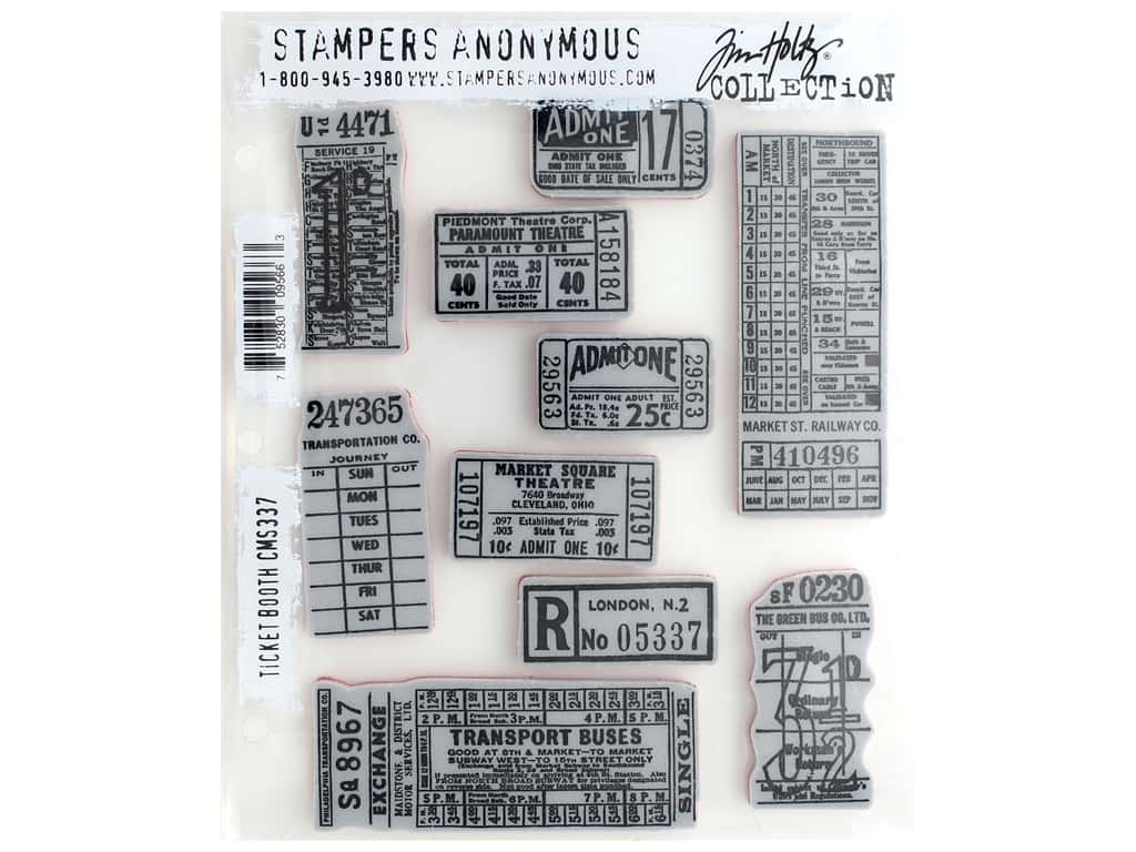 Stampers Anonymous Cling Mount Stamp Tim Holtz Ticket Booth