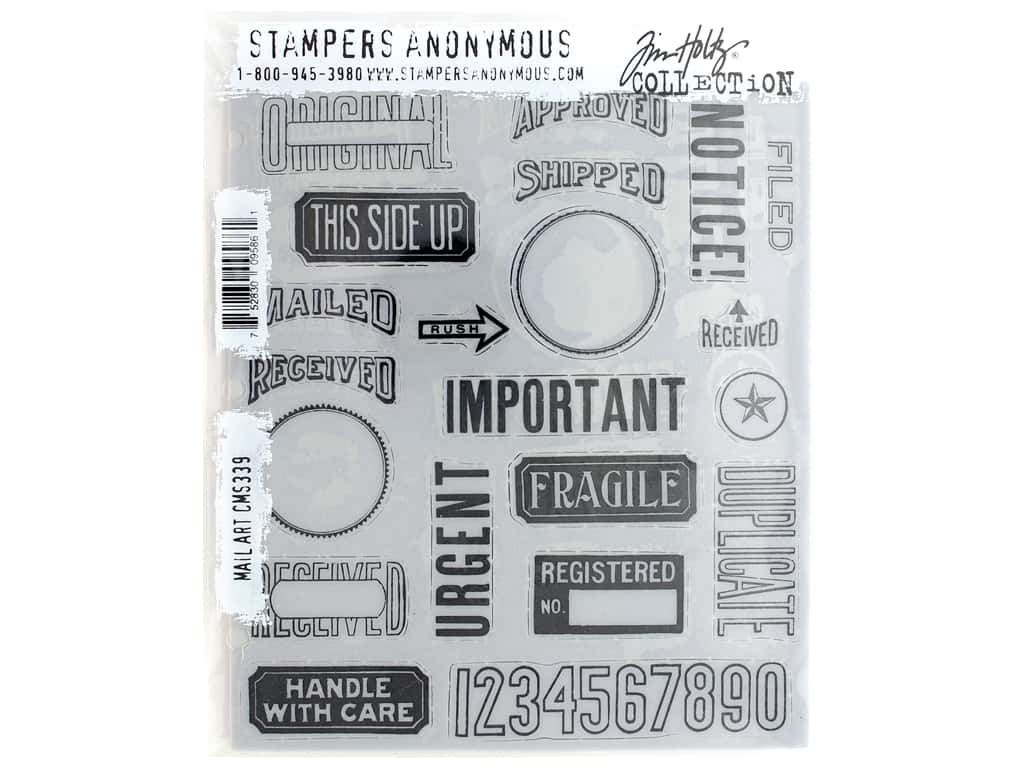 Stampers Anonymous Tim Holtz Cling Mount Stamp Set - Mail Art