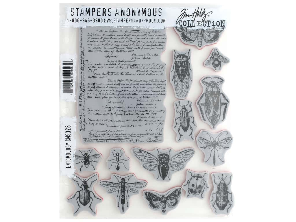 Stampers Anonymous Tim Holtz Cling Mount Stamp Set - Entomology