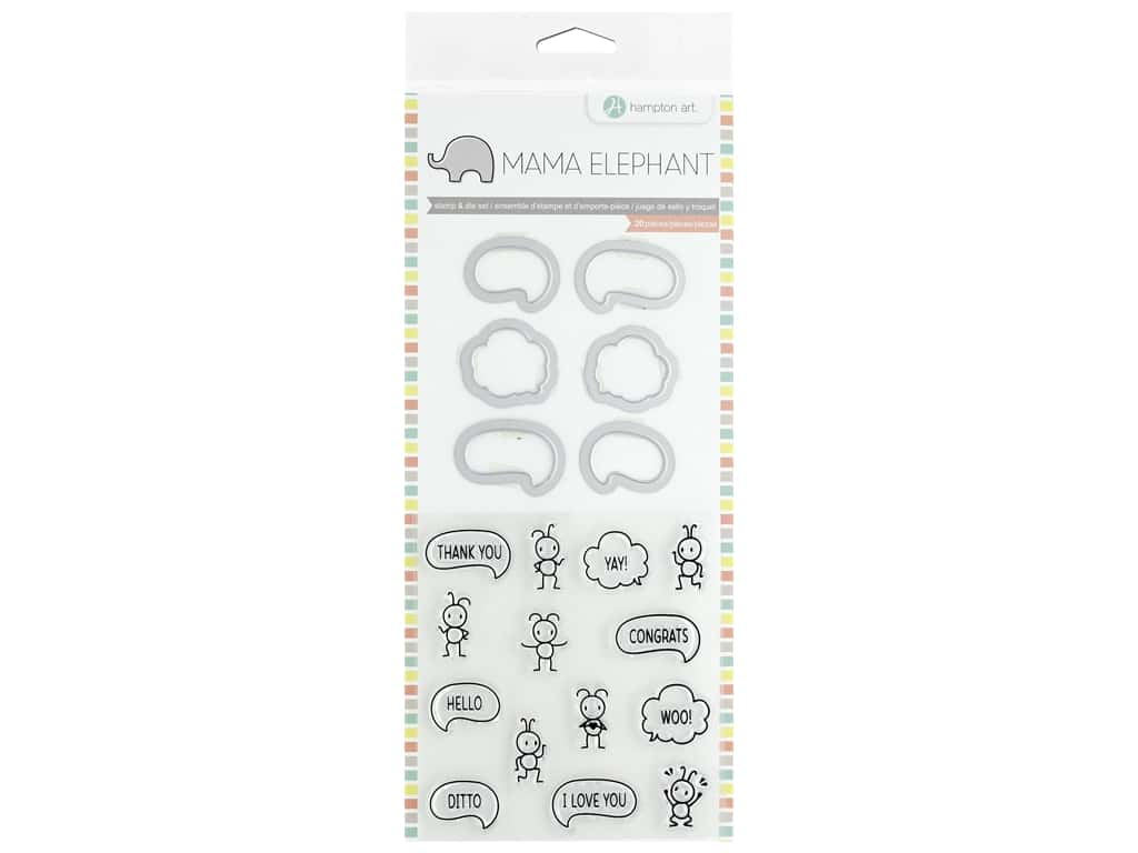 Mama Elephant Clear Stamp & Die Set Chit Chat