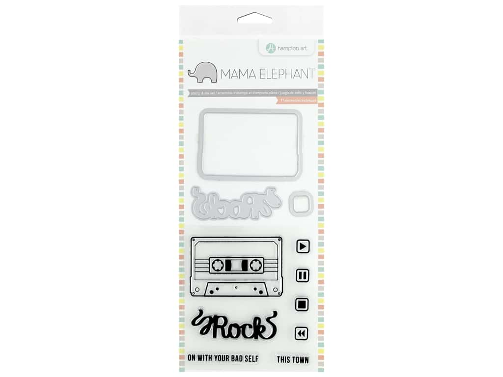 Mama Elephant Clear Stamp & Die Set Mix Tape