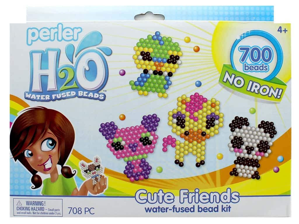 Perler H2O Water Fused Bead Kit Box Cute Friends