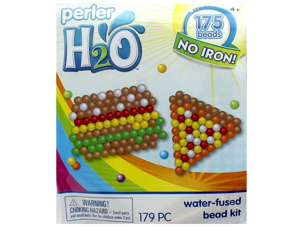 Perler H2O Water Fused Bead Kit Trial Hamburger & Pizza