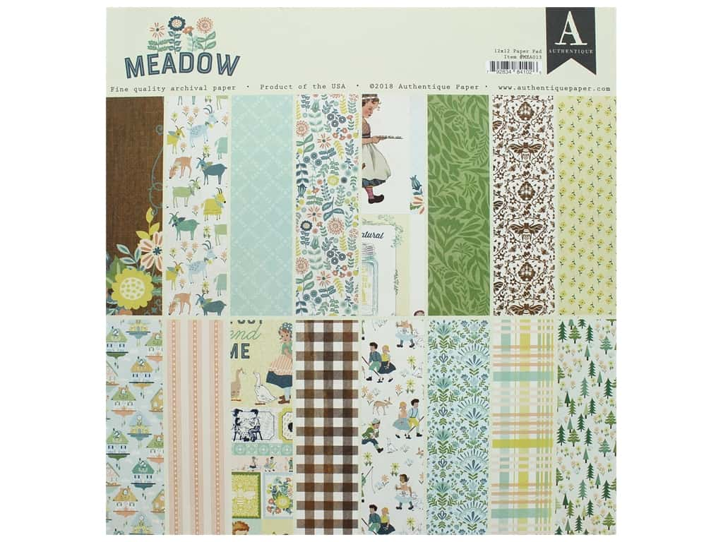 Authentique 12 x 12 in. Paper Pad Meadow