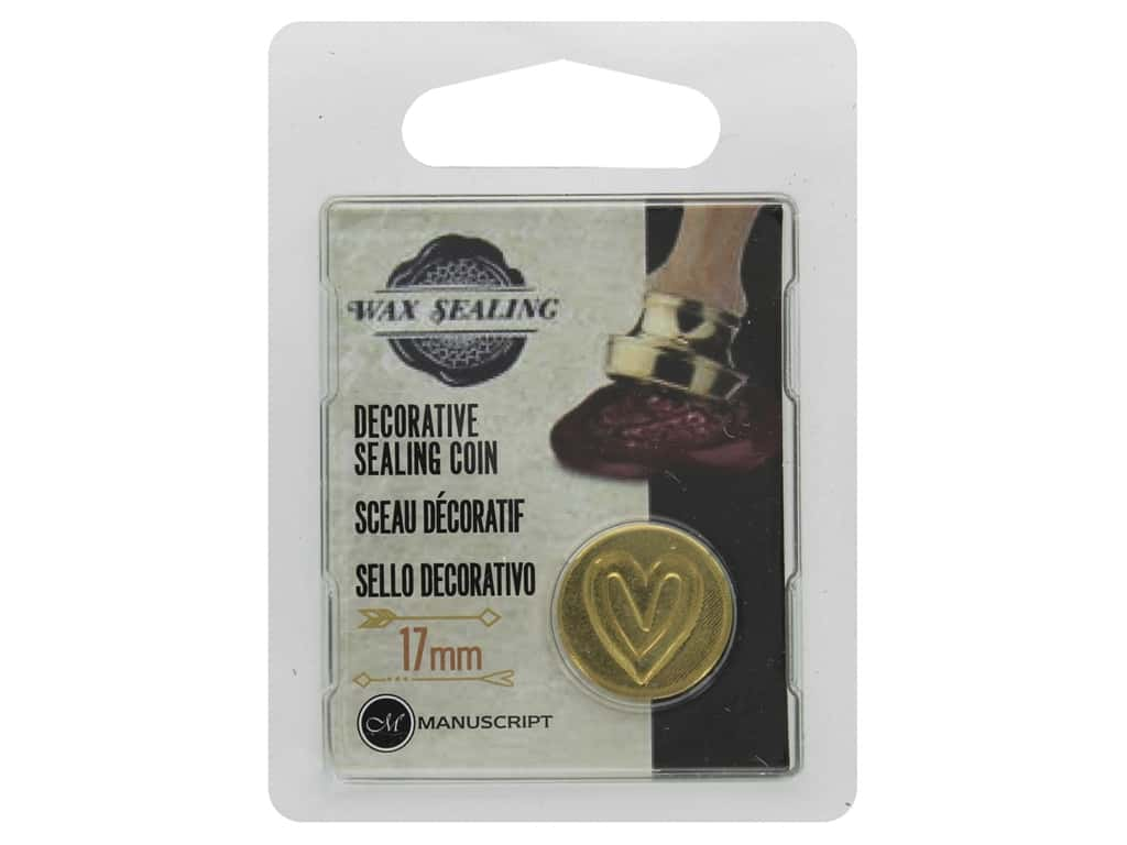 Manuscript Wax Sealing Coin 17 mm Heart