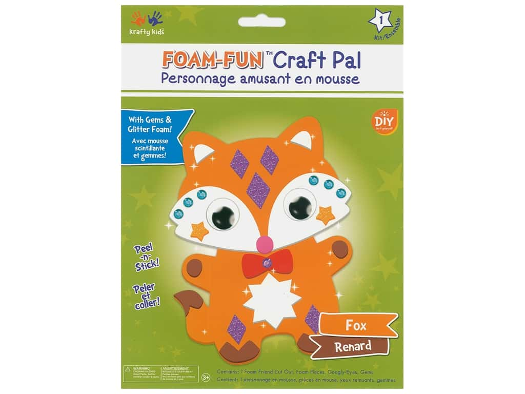 Multicraft Krafty Kids DIY Kit Foam Pal Fox