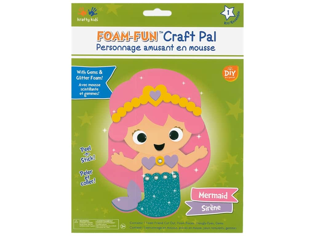 Multicraft Krafty Kids DIY Kit Foam Pal Mermaid