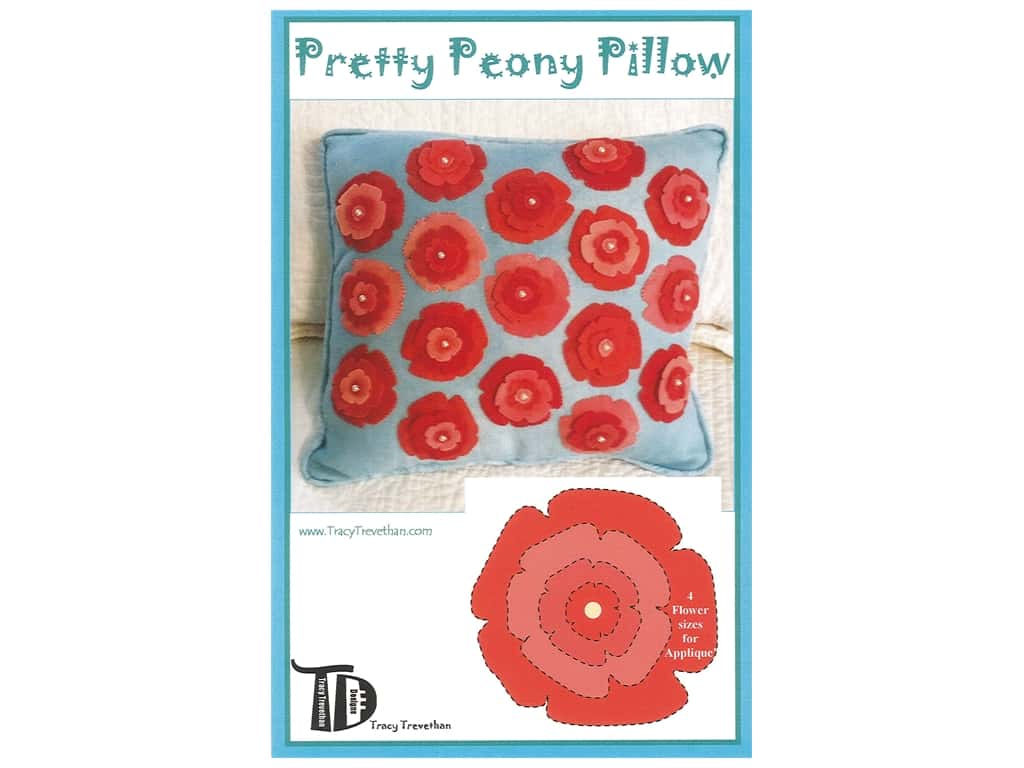 Tracy Trevethan Designs Pretty Peony Pillow Pattern
