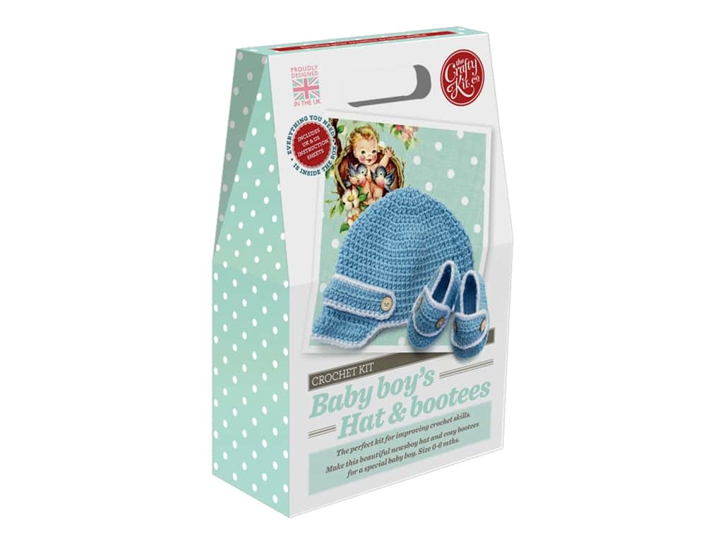 Crafty Kit Company Kit Crochet Baby Boy Hat & Bootees