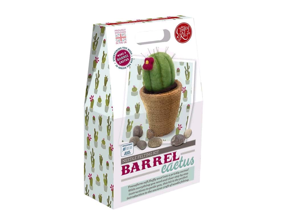 Crafty Kit Company Kit Needle Felt Barrel Cactus