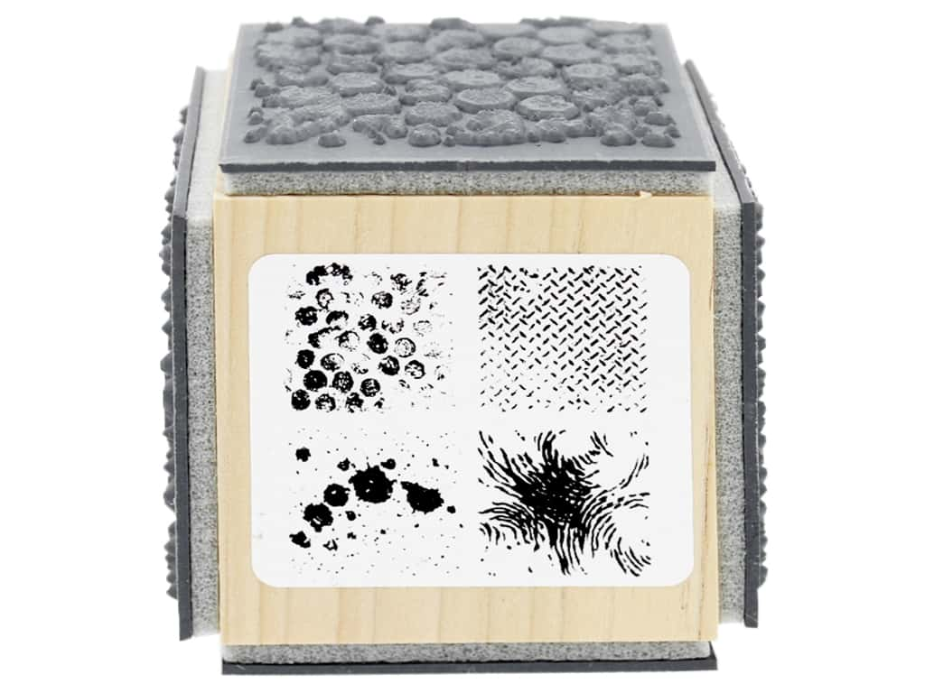 Stampendous Cling Rubber Stamp Fran's Cube Quest Texture