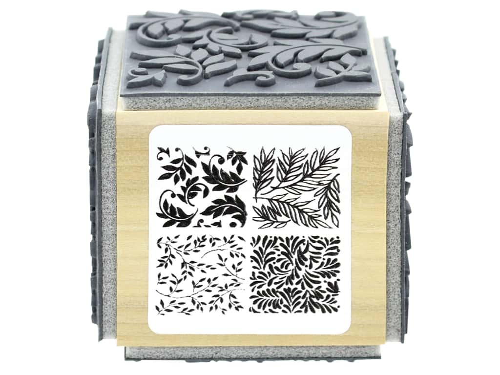 Stampendous Cling Rubber Stamp Fran's Cube Foliage
