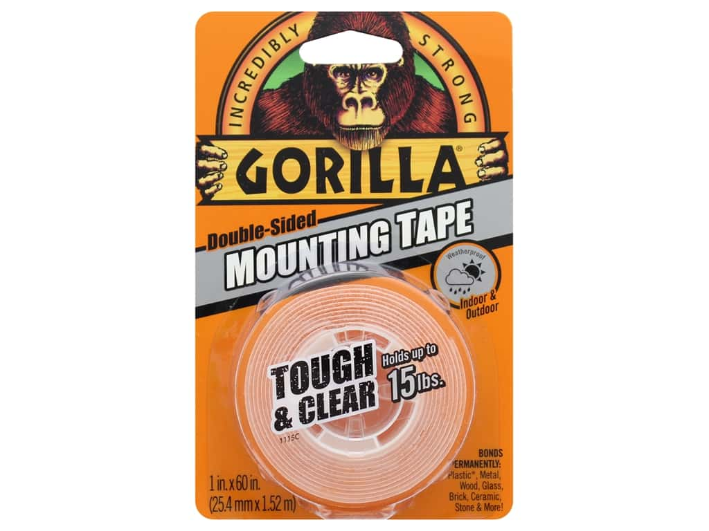 Gorilla Glue Mounting Tape Tough & Clear 60""