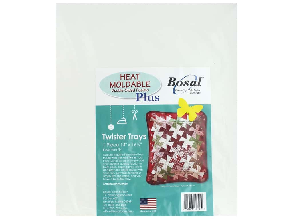 Bosal Heat Moldable Fusible Plus Double Sided Twister Tray