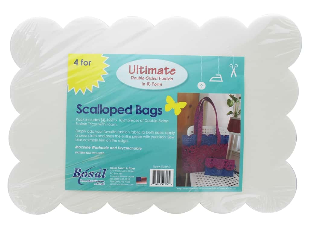 Bosal In R Form Foam Stabilizer Ultimate Fusible Double Side Scalloped Bag