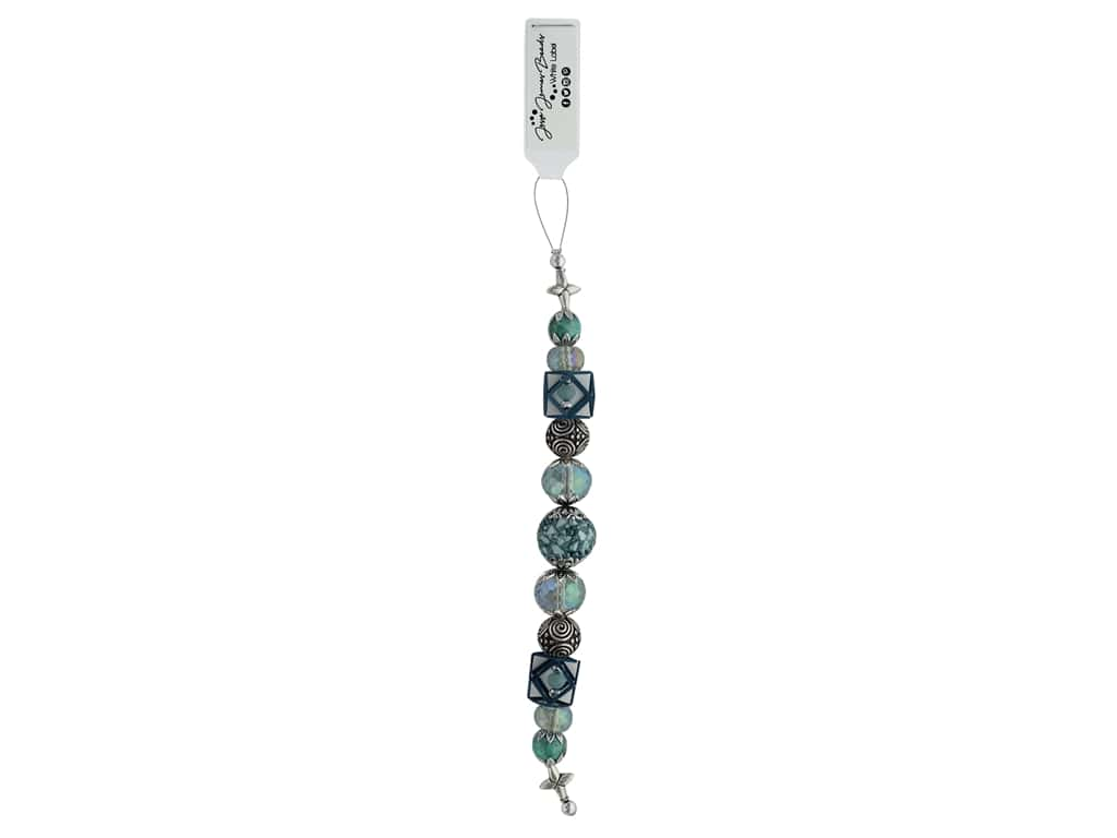 Jesse James Bead White Label Strand Teal Me About It