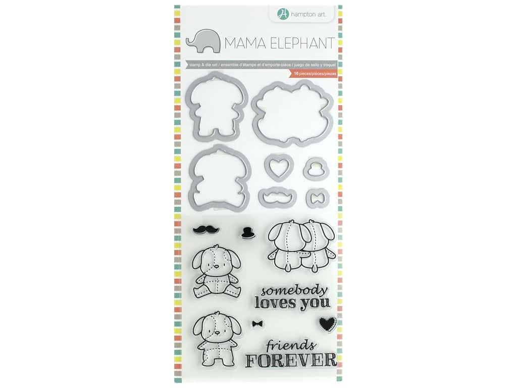 Mama Elephant Clear Stamp & Die Set Lovely Puppy