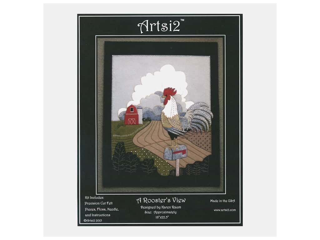 Artsi2 Wool Felt Kit Rooster With a View