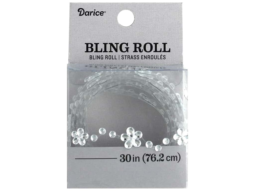 Darice Sticker Bling Roll Rhinestone Daisy 30 in.