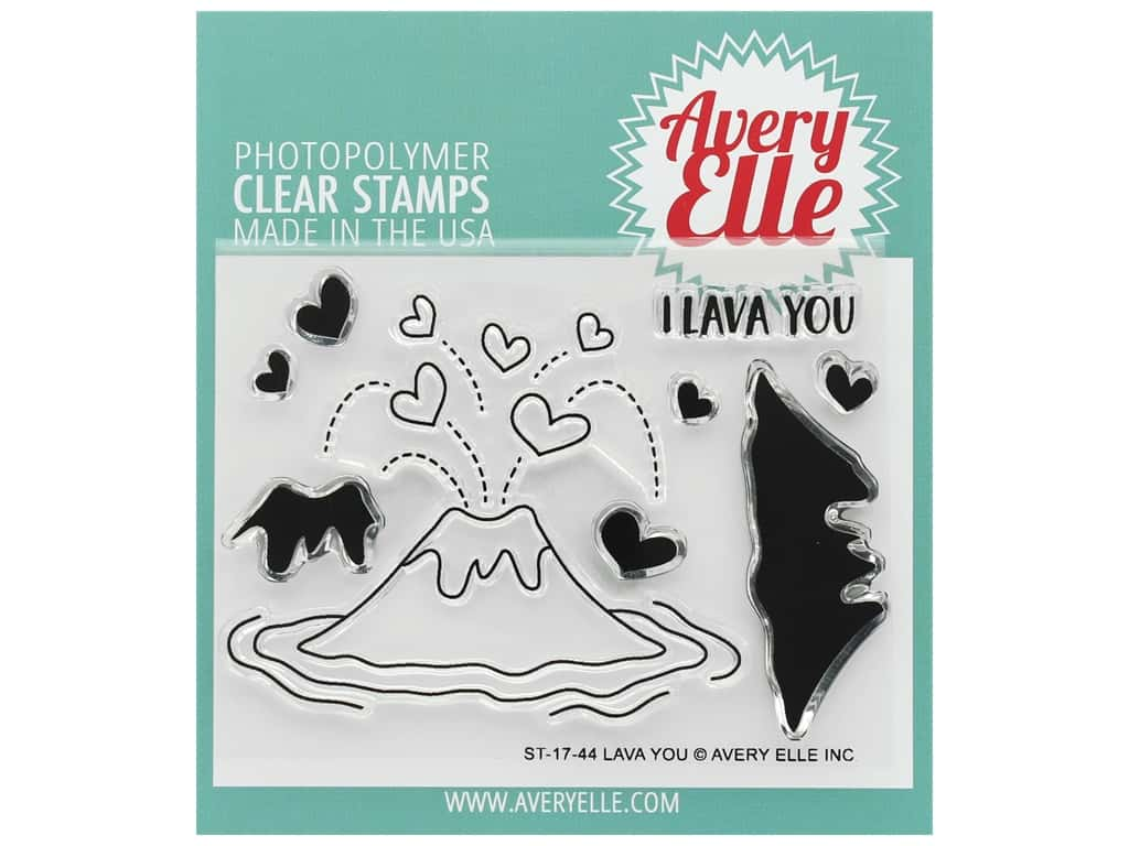 Avery Elle Clear Stamp Lava You
