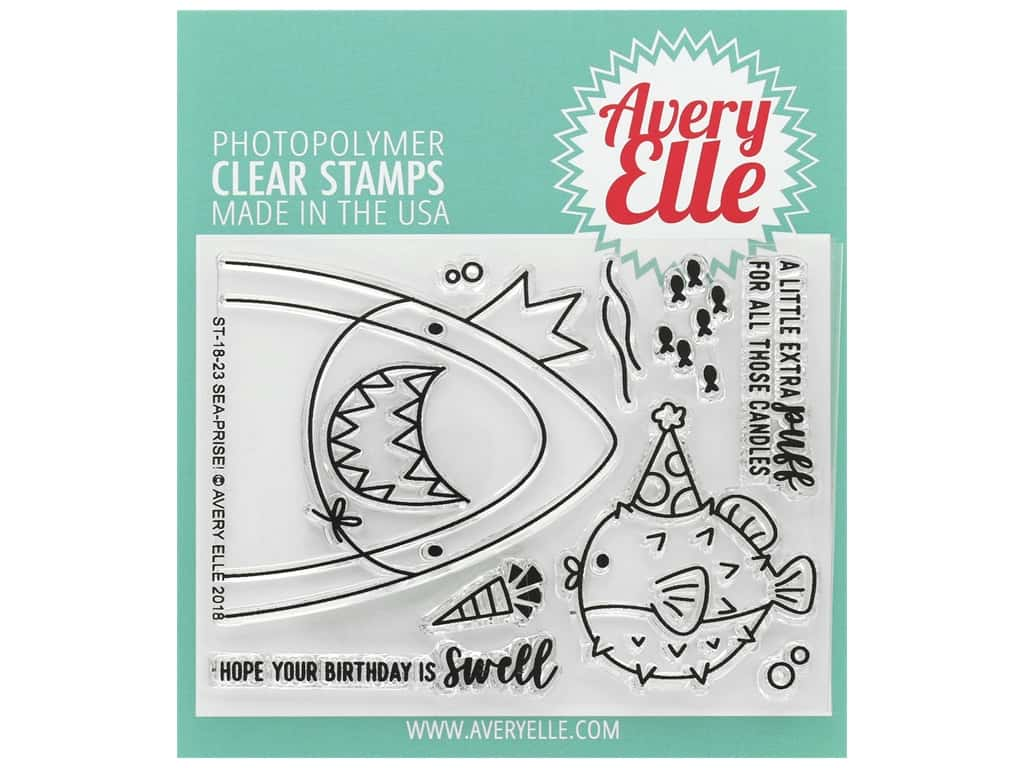 Avery Elle Clear Stamp Sea-prise