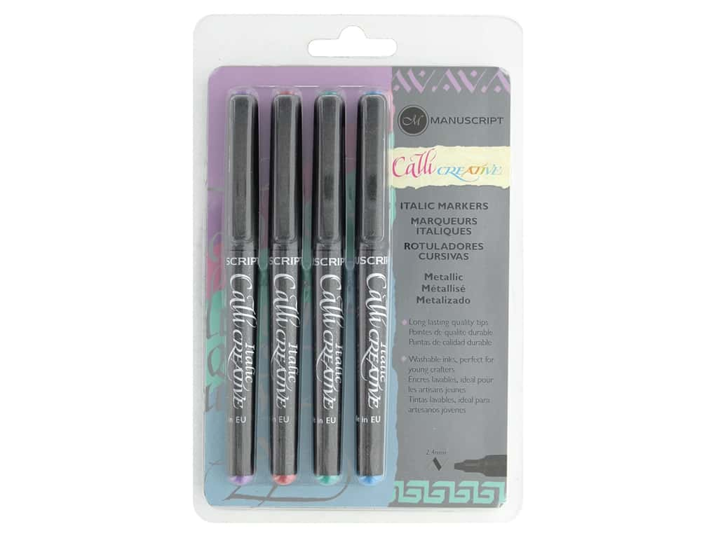 Manuscript Callicreative Marker Set Italic Metallic