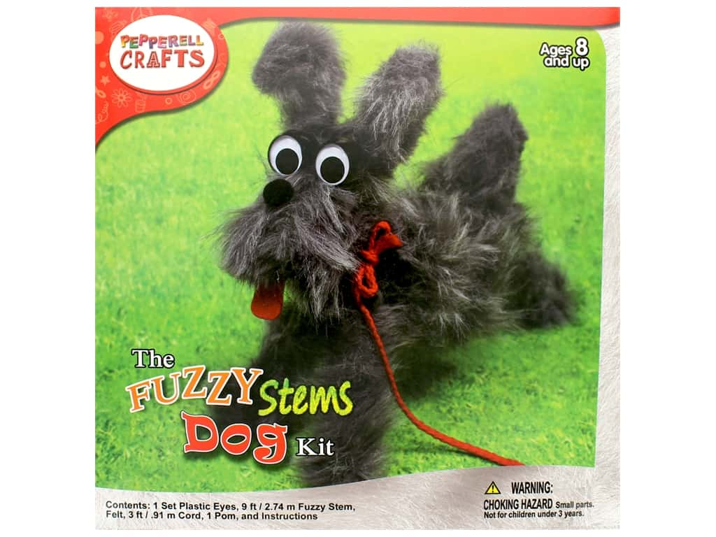 Pepperell Kit Fuzzy Stem Animal Dog