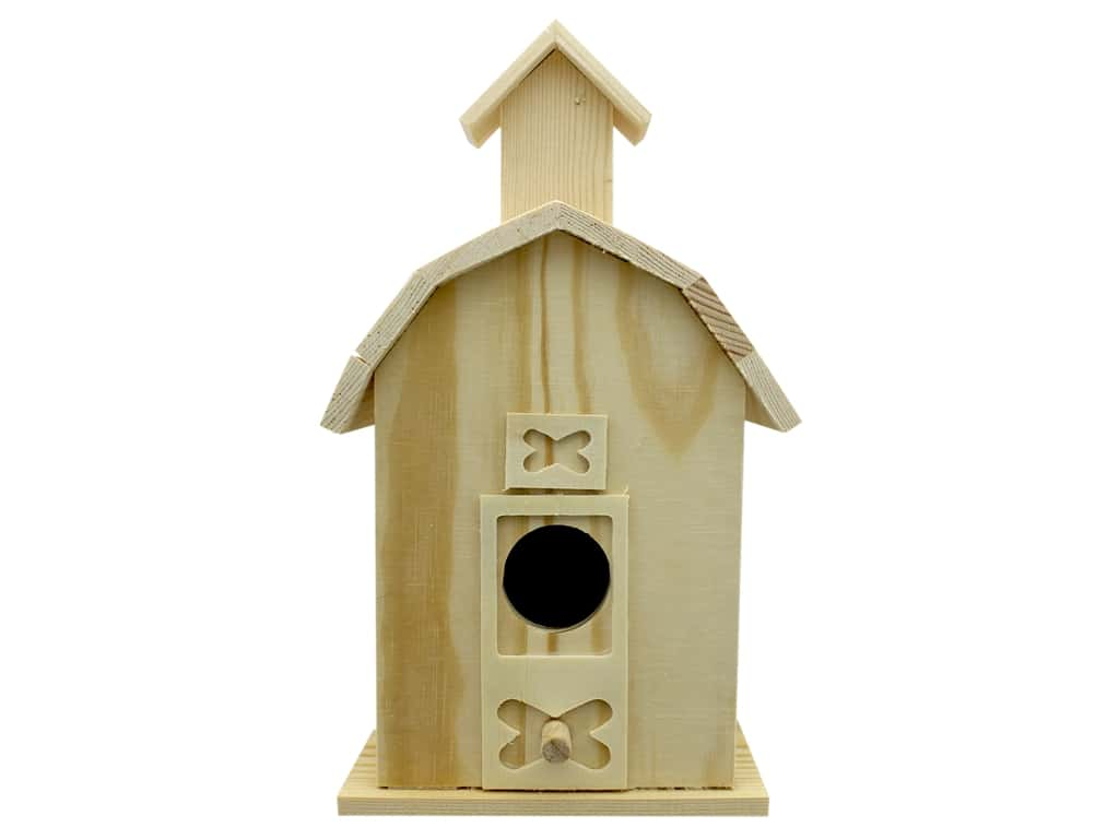 Darice Wood Birdhouse Barn Unfinished