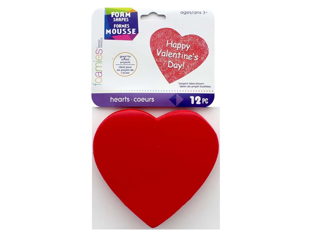 Darice Foamies Hearts Value Pack 12 pc