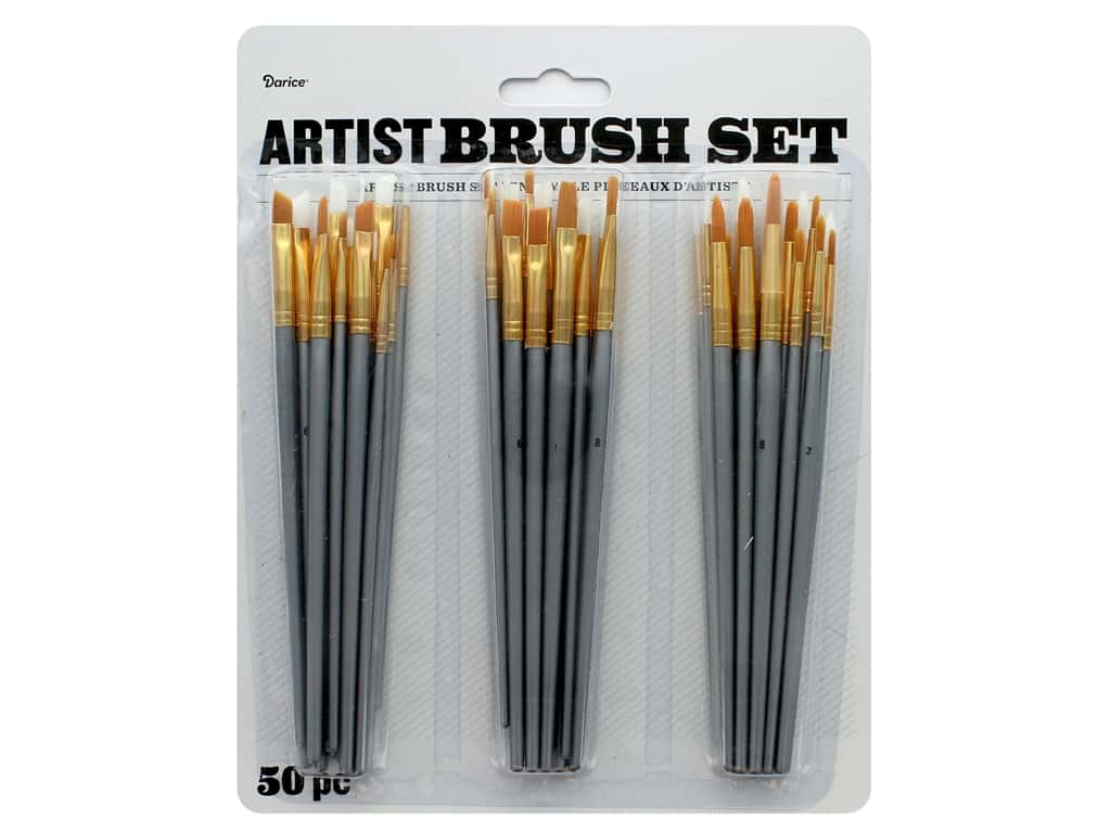Darice Artist Paint Brush Set 50 pc. Assorted