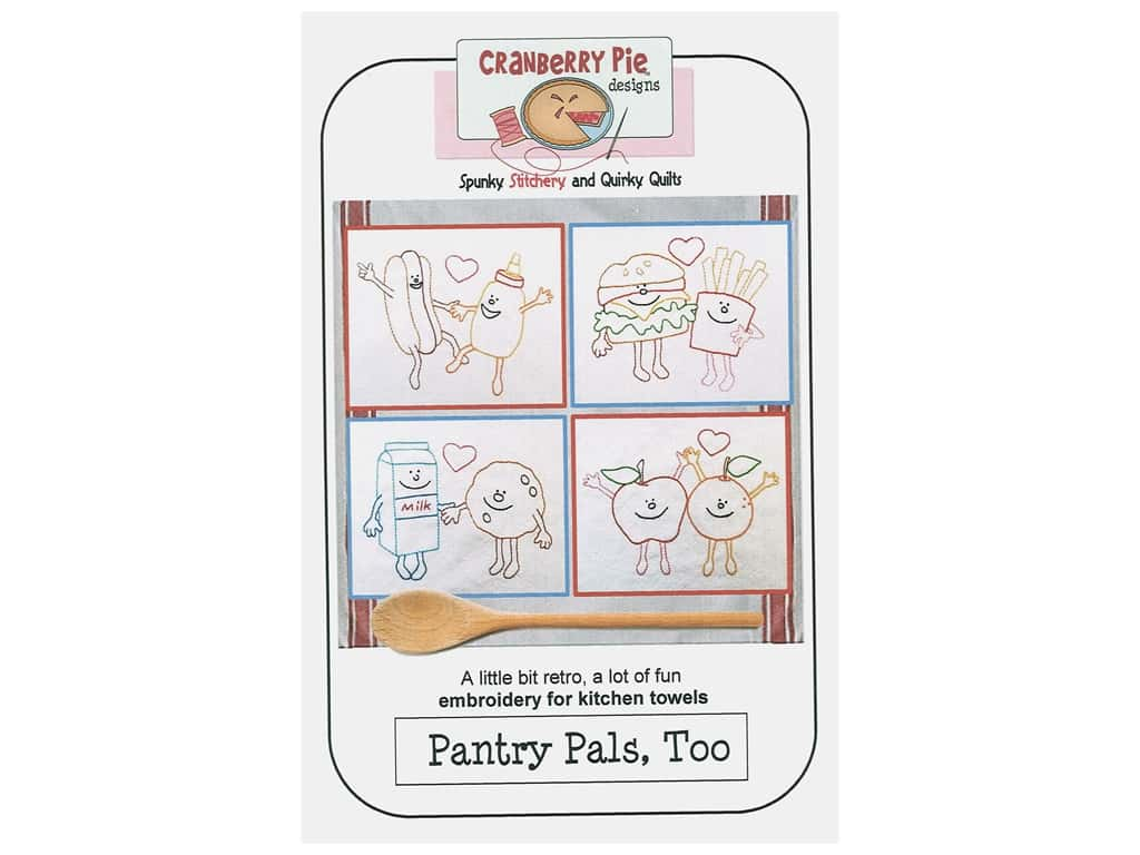 Cranberry Pie Designs Pantry Pals Too Embroidery Pattern