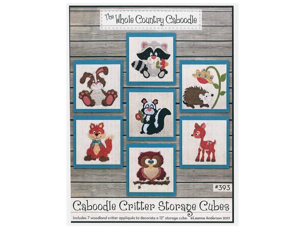 The Whole Country Caboodle Critter Storage Cubes Pattern