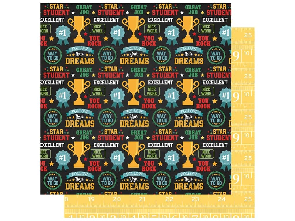 Echo Park Collection Back To School Paper 12 in. x 12 in. Star Student (25 pieces)
