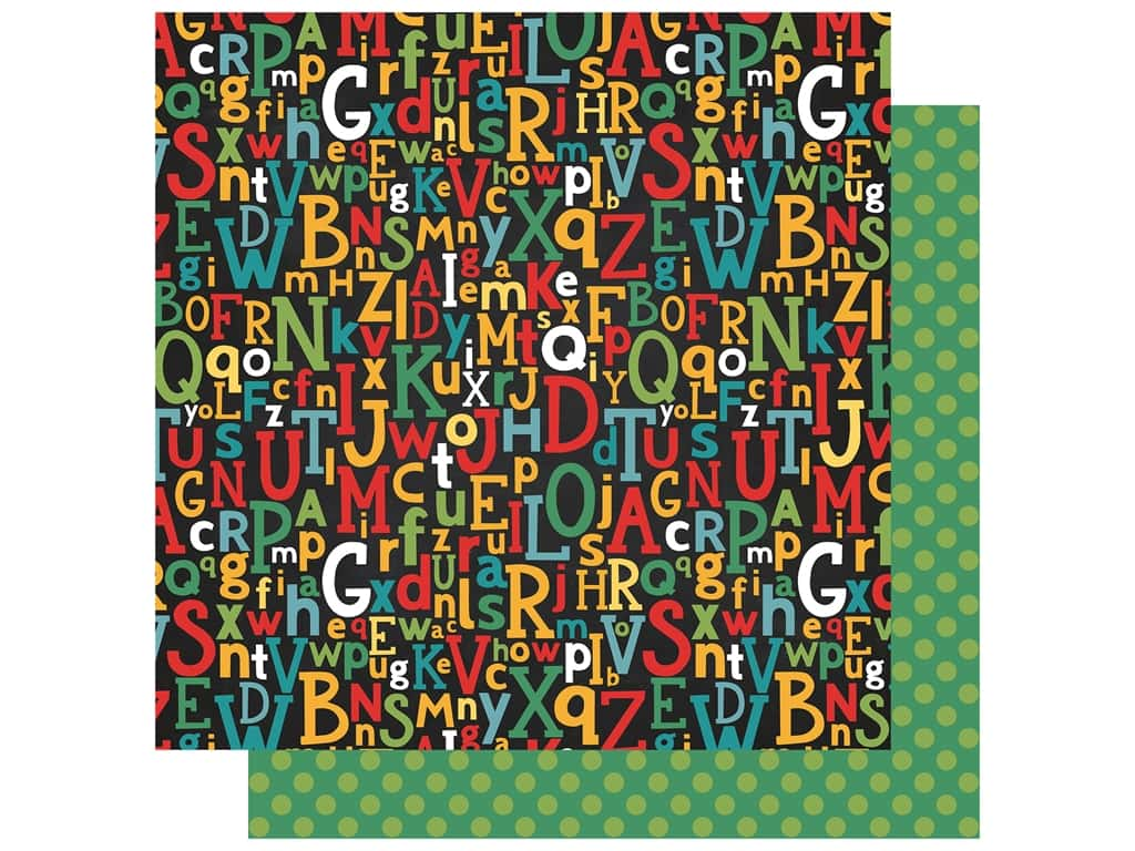 Echo Park Collection Back To School Paper 12 in. x 12 in. Alpha Scramble (25 pieces)