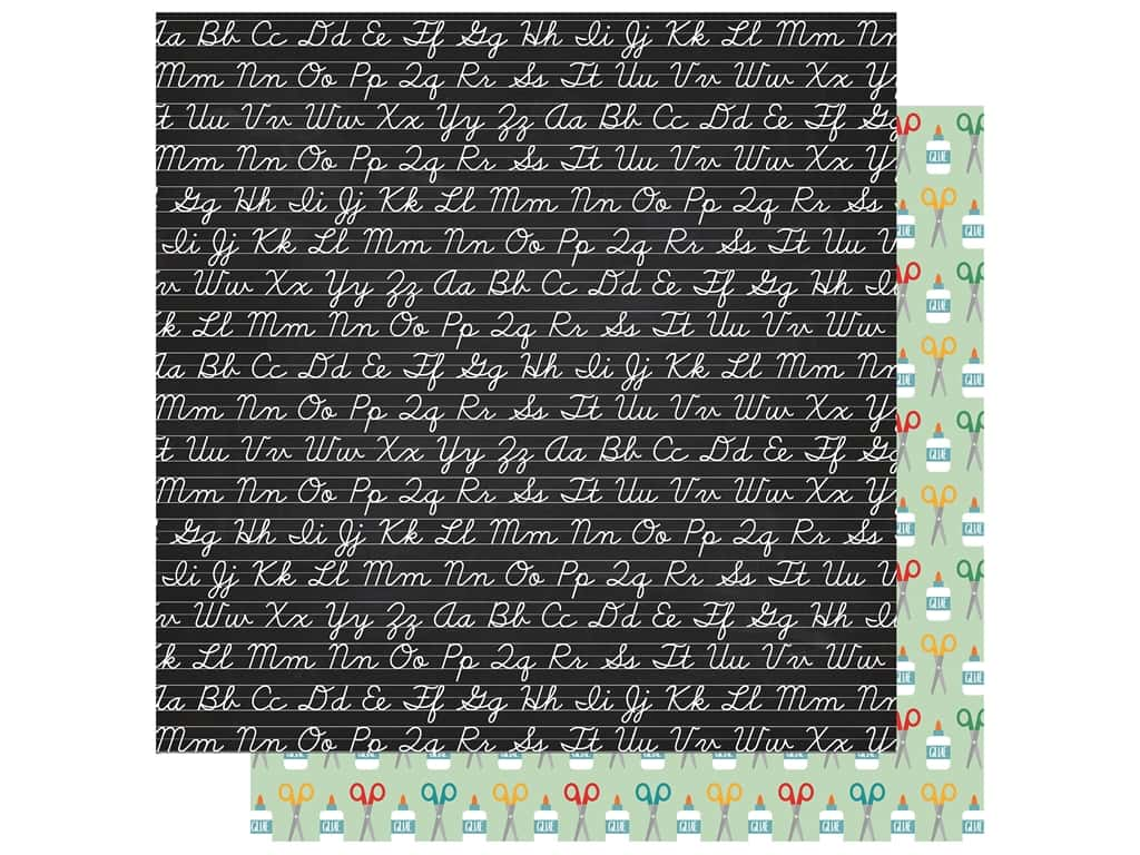 Echo Park Collection Back To School Paper 12 in. x 12 in. Chalkboard (25 pieces)