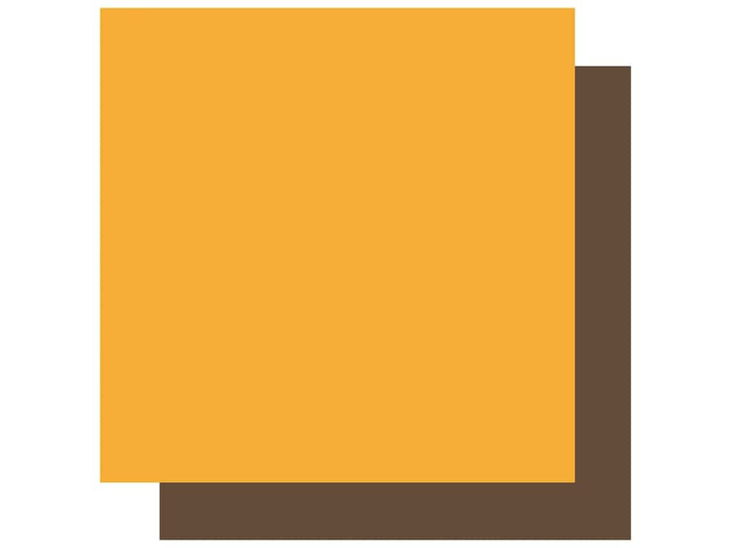Echo Park Collection Back To School Paper 12 in. x 12 in. Yellow/Brown (25 pieces)