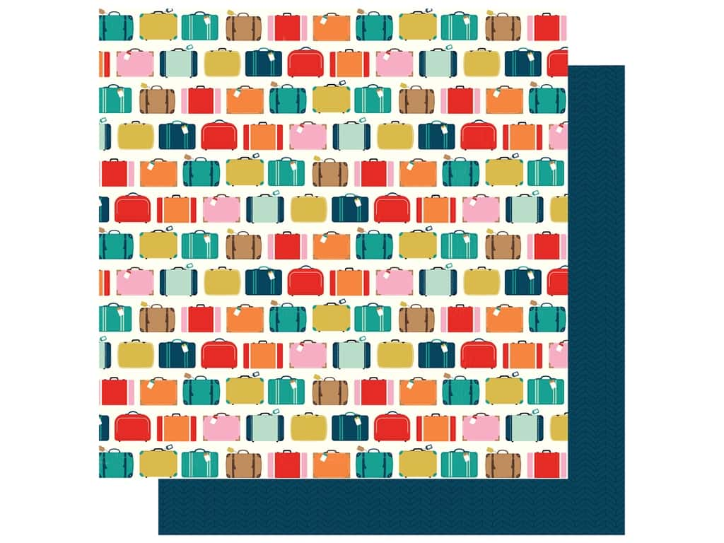 """Carta Bella Pack Your Bags Paper 12""""x 12"""" Away We Go (25 pieces)"""