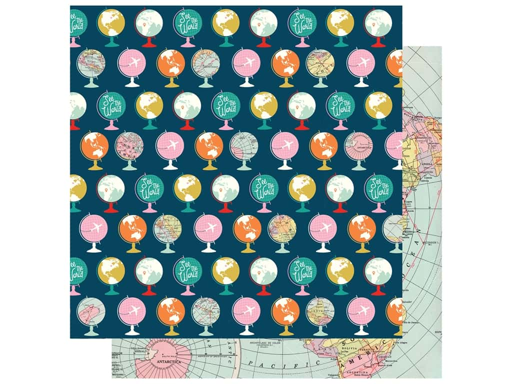Carta Bella Pack Your Bags Paper 12 in. x 12 in. Travel The World (25 pieces)