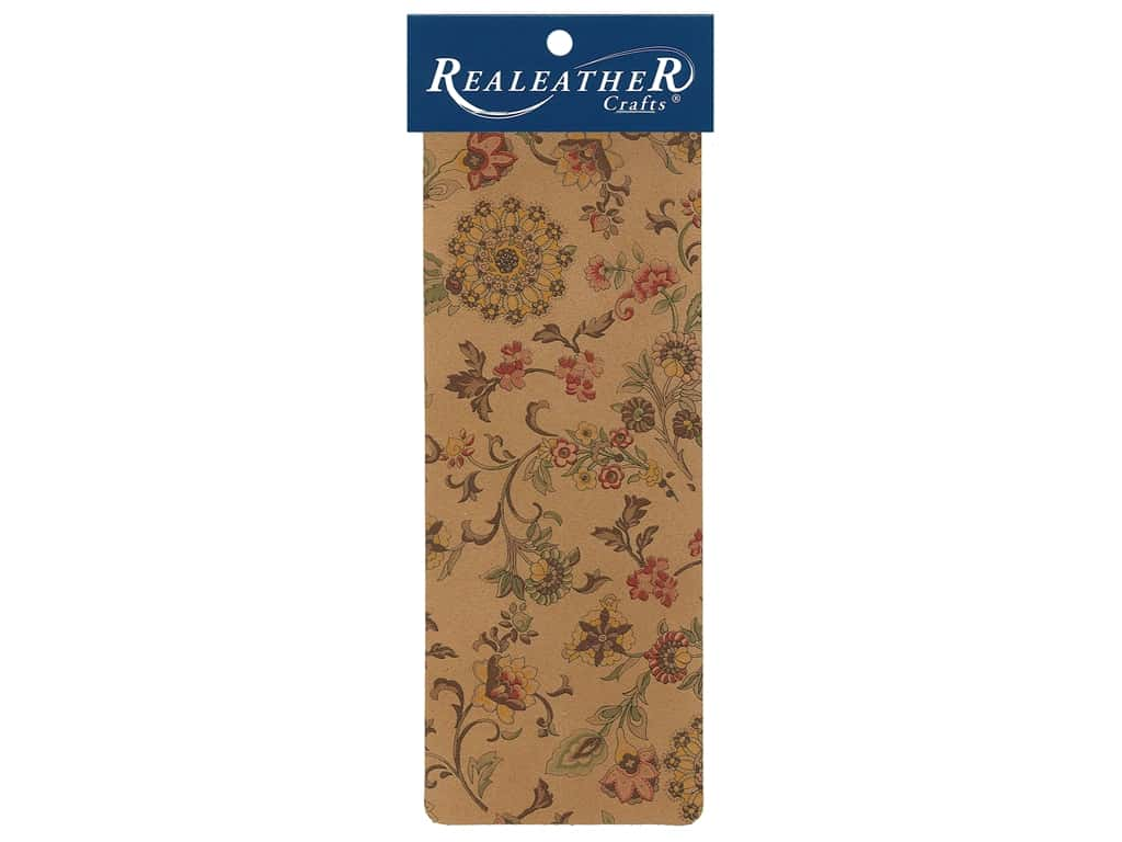 REALEATHER by Silver Creek Leather Trim Printed 9 in. x 3.5 in. Marigold