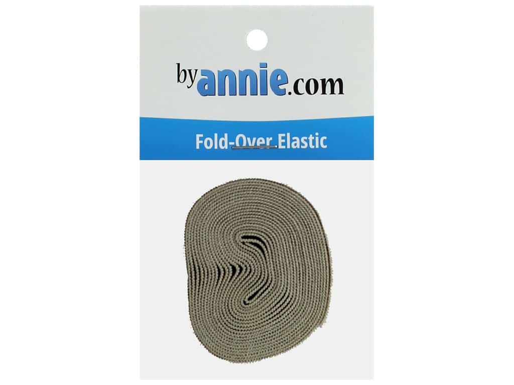By Annie Fold Over Elastic 20mmx 2yd Natural
