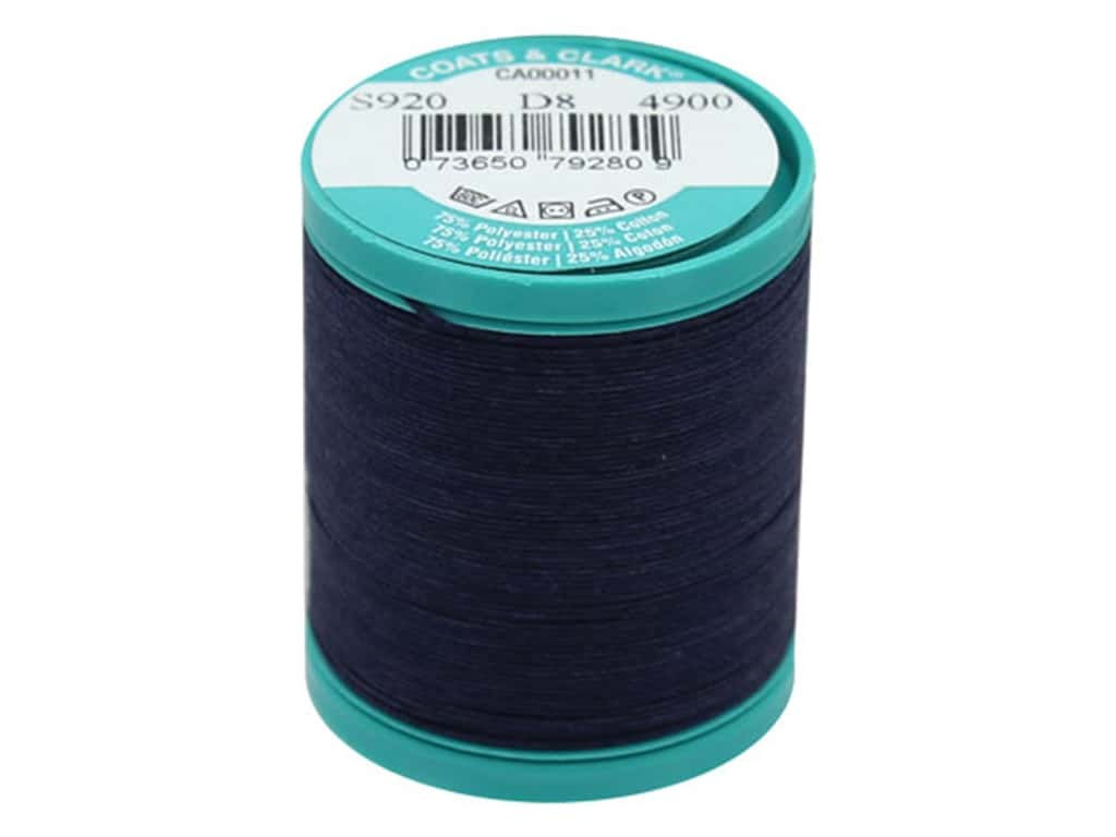 Coats & Clark Dual Duty Plus Button & Craft Thread 50 yd. #13 Navy