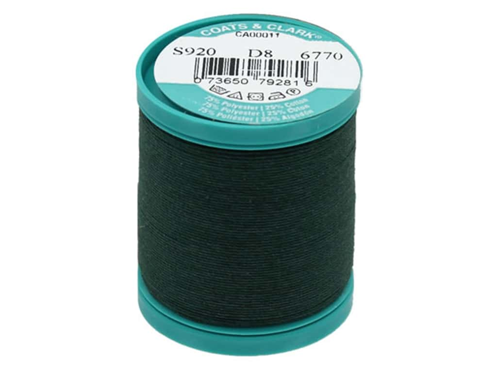 Coats & Clark Dual Duty Plus Button & Craft Thread 50 yd. #61A Forest Green