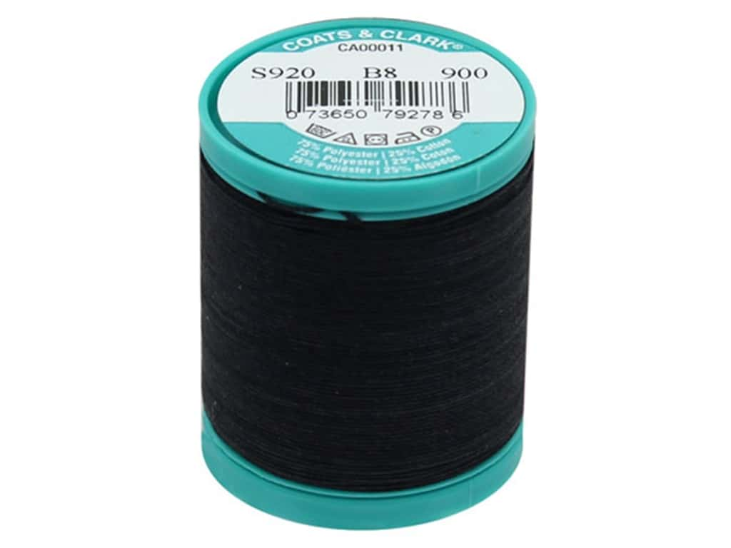 Coats & Clark Dual Duty Plus Button & Craft Thread 50 yd. #2 Black