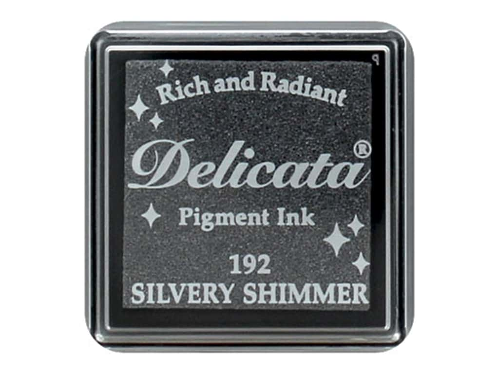 Tsukineko Delicata Pigment Ink Pad Small Silvery Shimmer